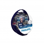 PHILIPS Autospuldze H4 12V 55W Racing Vision +150% 2 gab blisteris