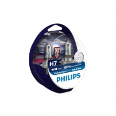 PHILIPS Autospuldze H7 12V 55W Racing Vision +150% 2gab blisteris