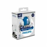 PHILIPS Autolampa H7 12V 55W WHITE VISION + W5W 2 gb blisteris